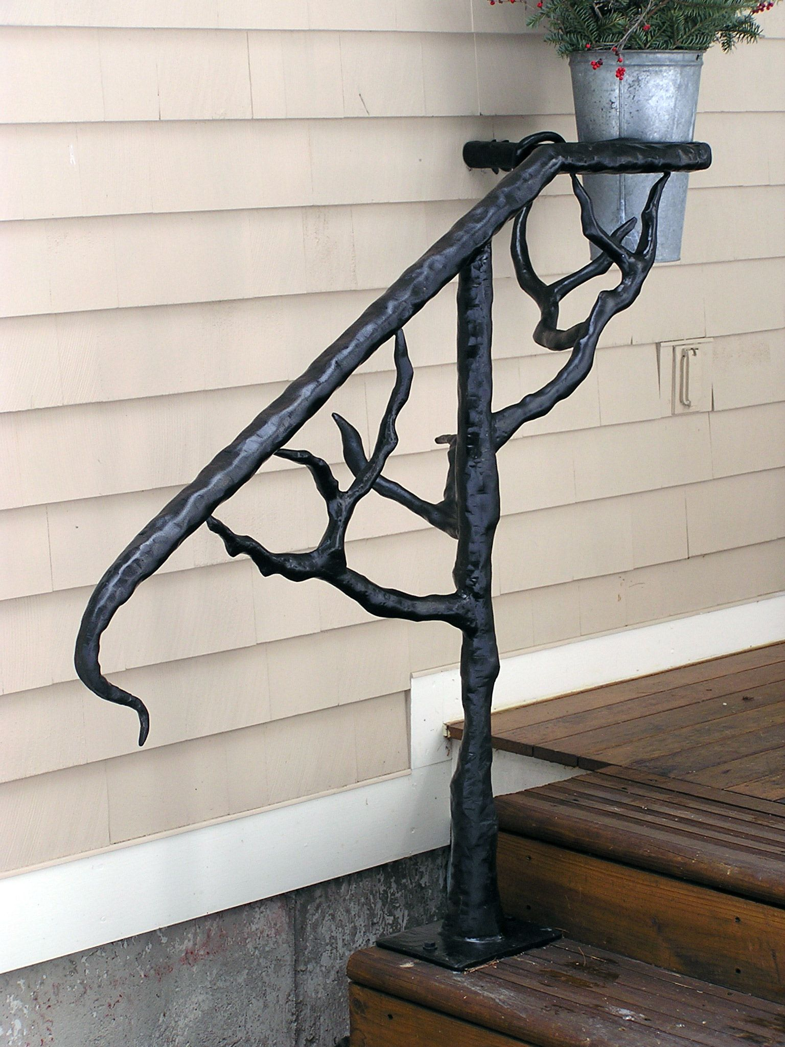 Outdoor hand railings tree handrail tree handrail bear - Exterior wrought iron handrails for steps ...
