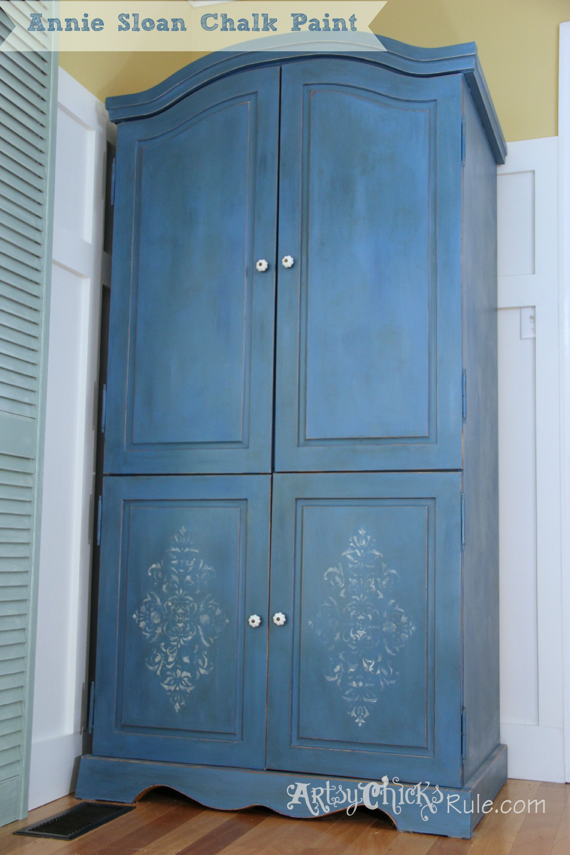 Armoire Transformed Twice...Finishing Up with Chalk Paint ...