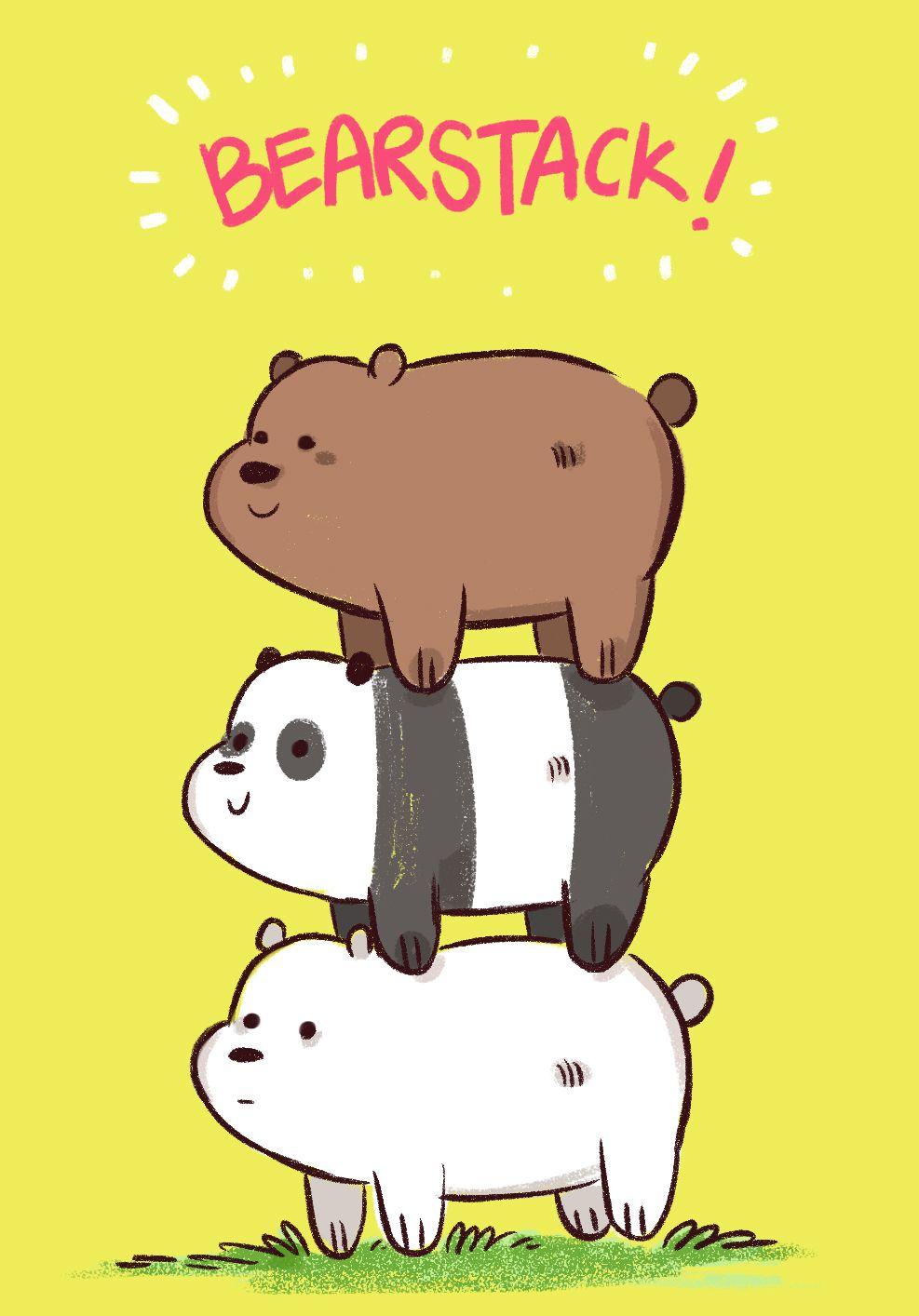 Kết quả hình ảnh cho we bare bears iphone wallpaper Gấu