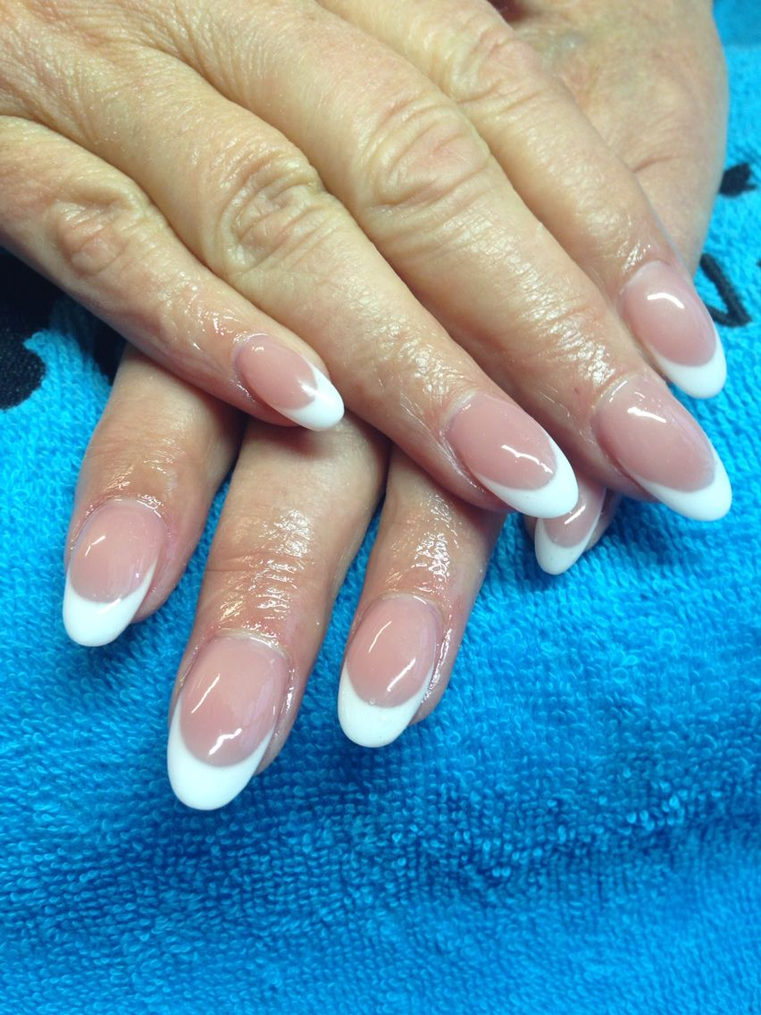 Gel French Extension Oval Shape With Images Gel Nail
