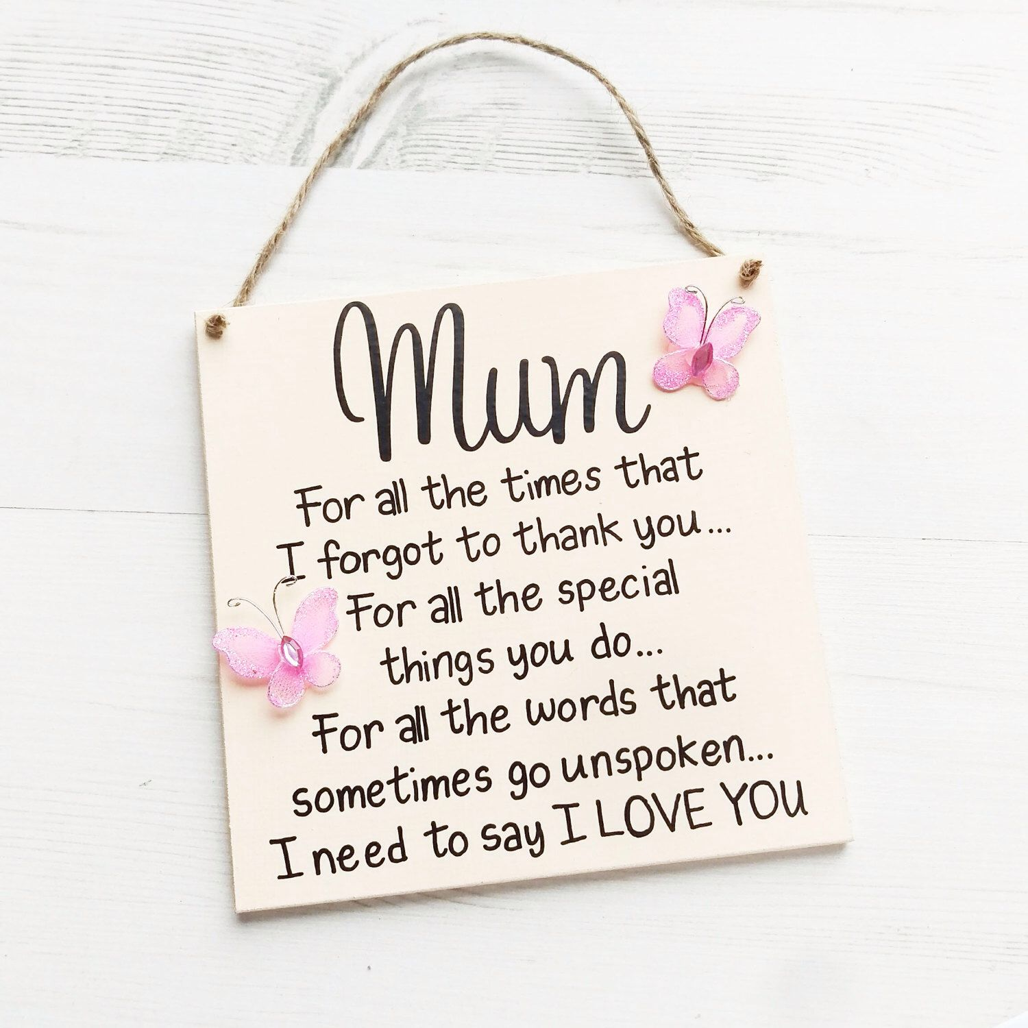 Gift For Mum Mothers Day Plaque Birthday