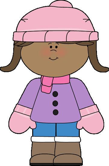 fce62c54fff4 Little Girl Dressed for Winter Clip Art - Little Girl Dressed for ...