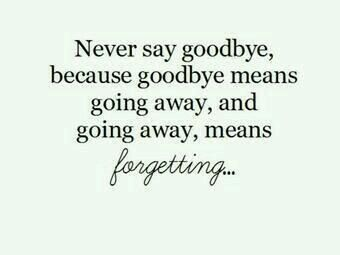 Never Say Goodbye Great Quotes Pinterest