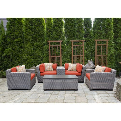 Found it at Wayfair - Florence 6 Piece Lounge Seating Group Set with Cushion
