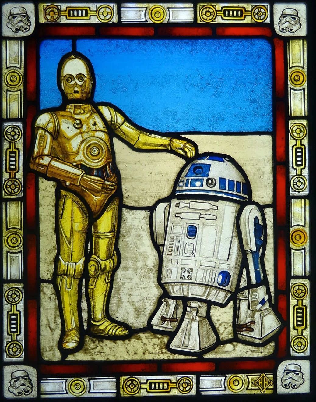 Custom made star wars stained glass stained glass