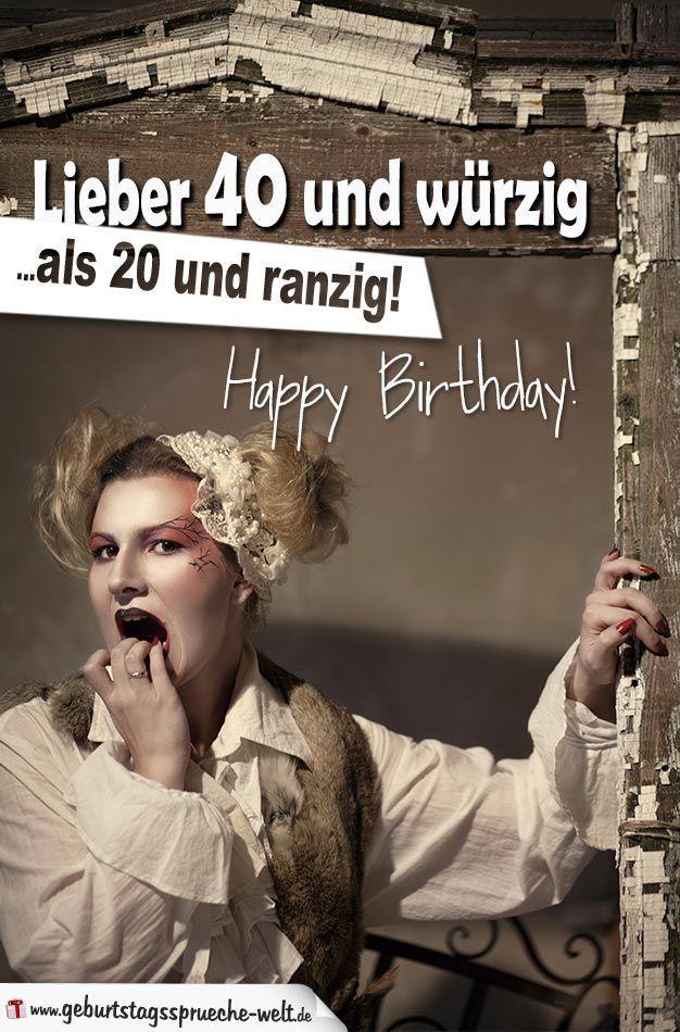 Image Result For Geburtstagsspruch Zum Vierzigsten Geburtstag