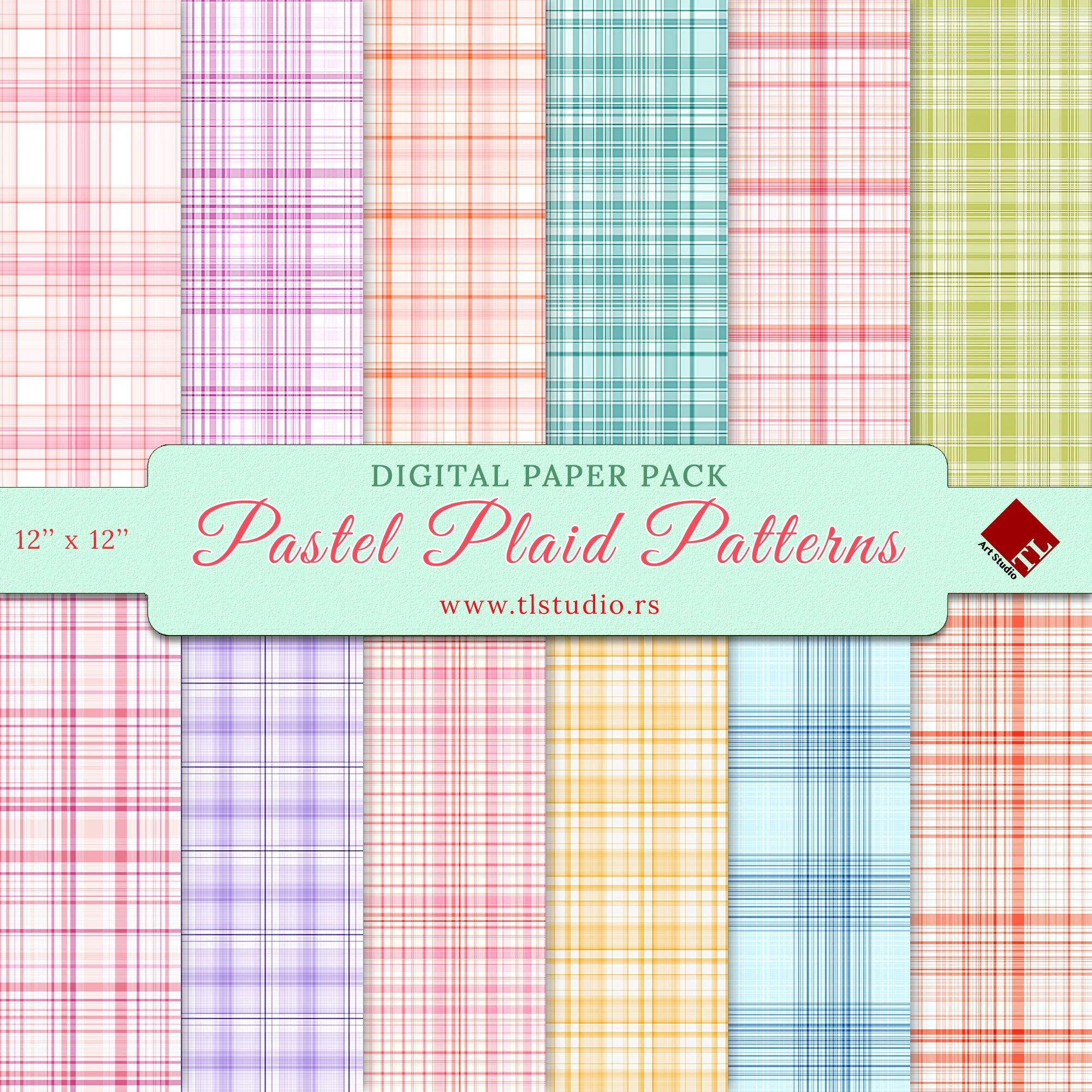 Pastel papers Digital Papers commercial use scrapbook patterns Easter background