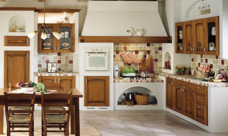 mobili-cucine-in-muratura-bianche-grande-cappa-tavolo-sedie-in-legno ...