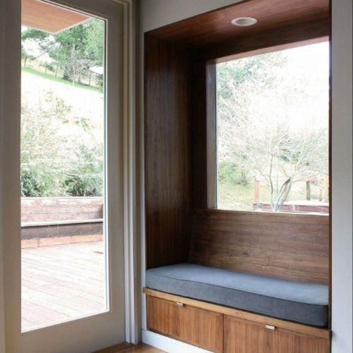 Ws2 Walnut Window Seat Modern Window Seat Mudroom Design