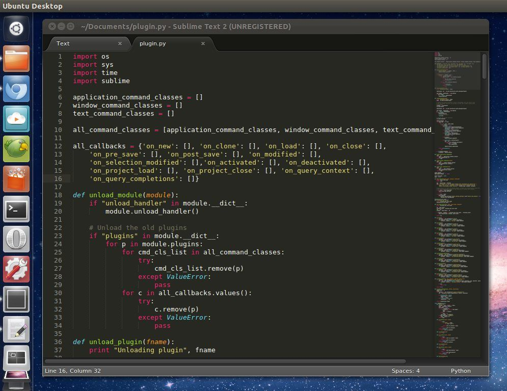 Sublime Text is a sophisticated text editor for code, markup and