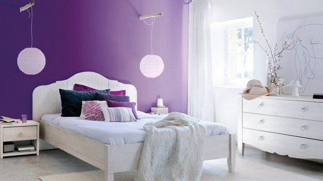 D coration violet la chambre des jeunes filles s habille - Deco chambre jeune fille ...