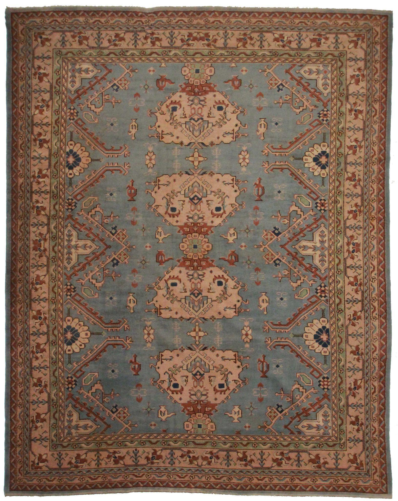 10 12 11 Antique Turkish Oushak Rug I Wish