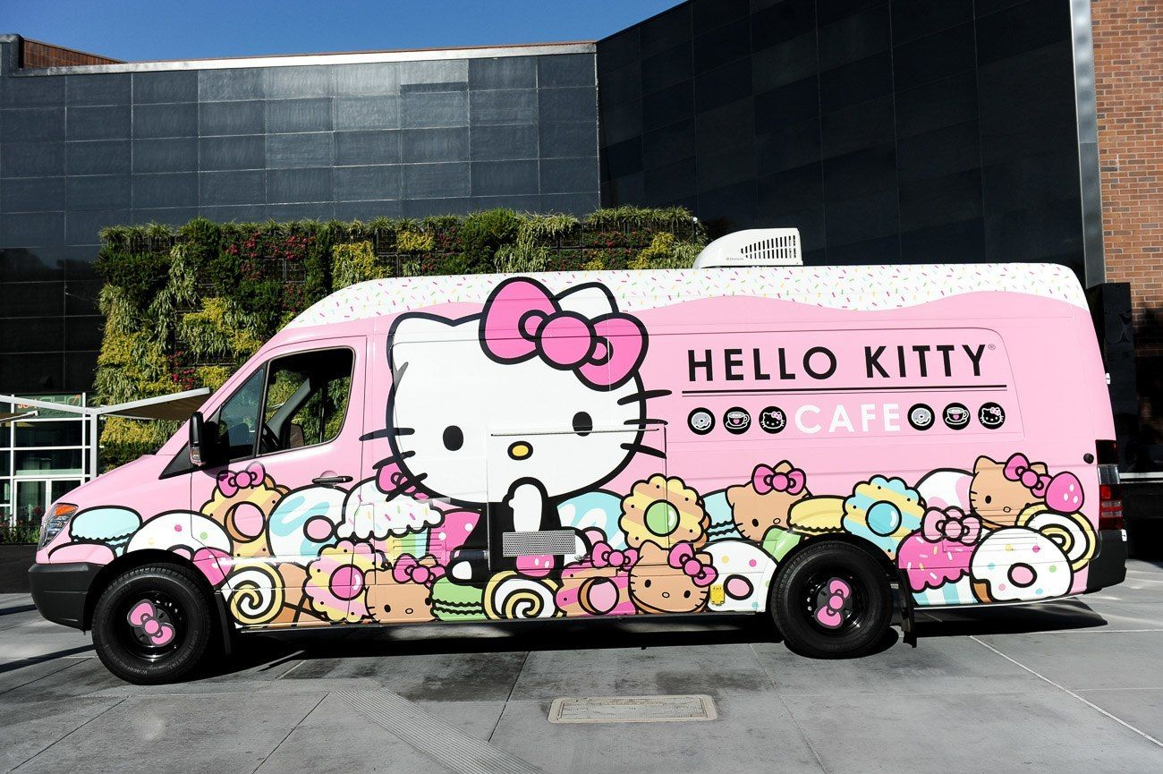 Hello kitty cafe truck makes a stop in san diego via