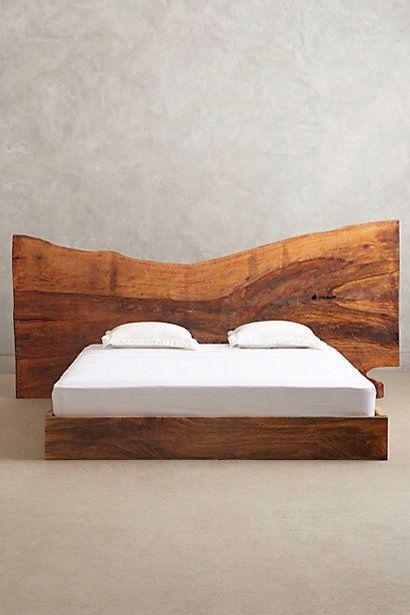 Dogal Agac Yatak Odasi Tasarim Wood Beds Wooden Bed Live Edge Bed