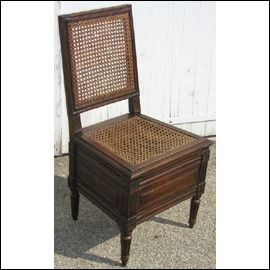 Good French Louis XVI Beech, Canned Toilet Chair. For Sale | Antiques.com |