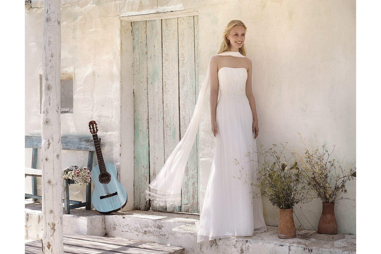 Rembo styling — Vintage — Grace: Bustier-Kleid mit Faltenrock und ...
