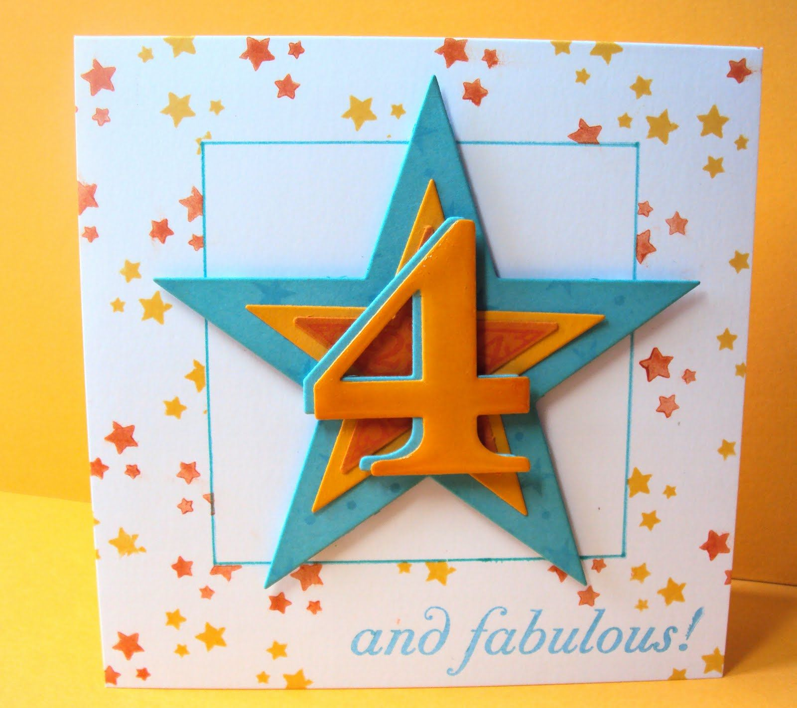 Homemade birthday card for 4 year old girl Birthday