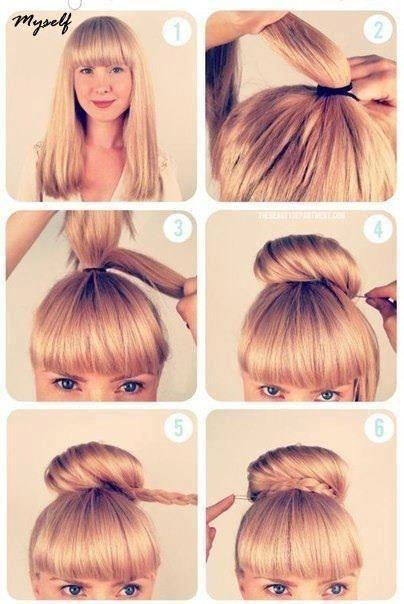 High Bun Tutorial Hair Styles Hair Hacks Hairstyle