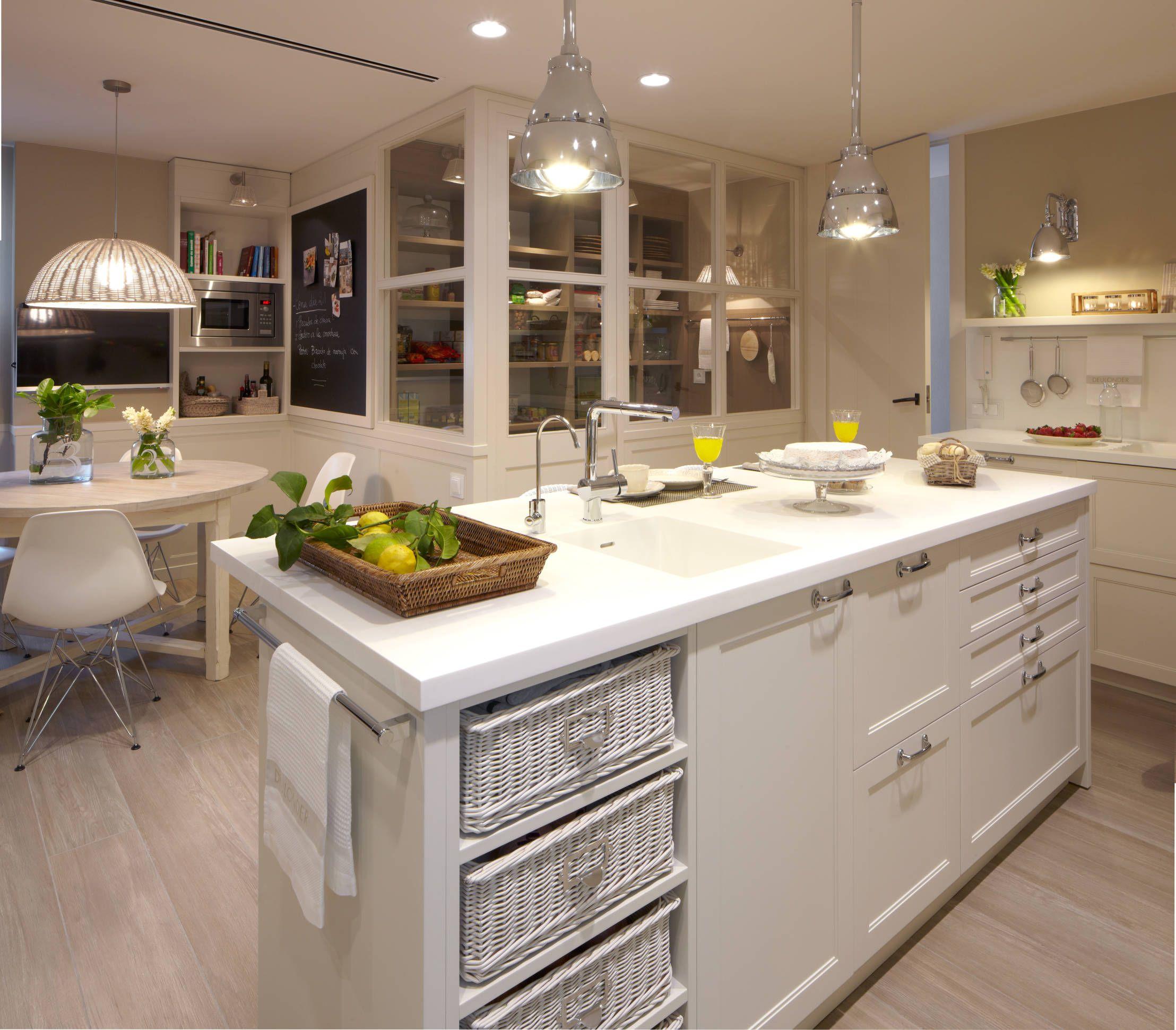 Cocinas con isla: 10 diseños maravillosos | Isla cocina, Cocina con ...
