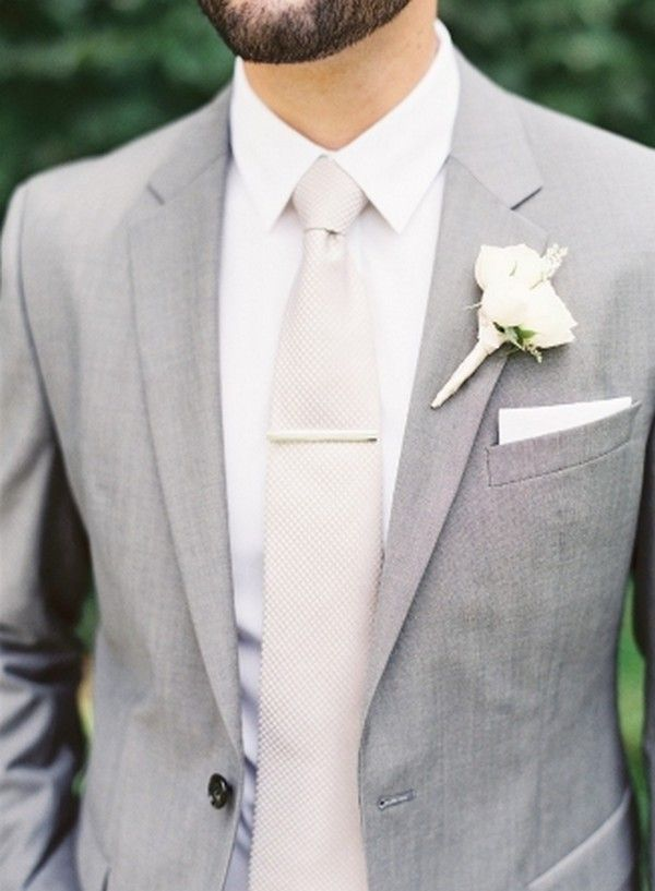 light gray and white elegant groom suit wedding ideas   Weddings ...