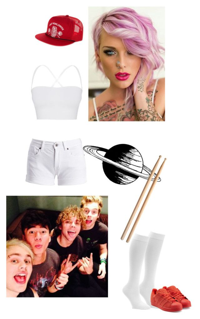 """Joshes twin sis going on tour with 5sos"" by oxxnjaxxo ❤ liked on Polyvore featuring OBEY Clothing, Barbour International, Theory, Dr. Motion and adidas Originals"