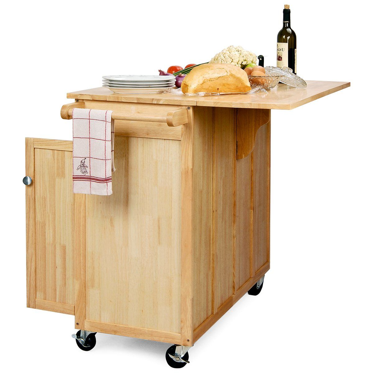 Portable Island Part - 41: The Vinton Portable Kitchen Island With Optional Stools - Kitchen Islands  And Carts At Hayneedle