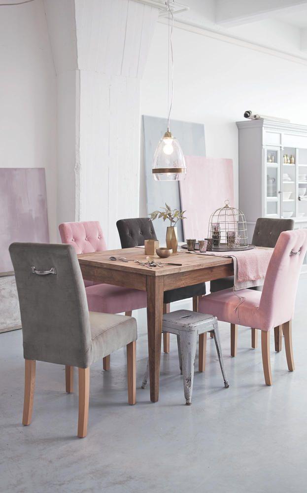 kombiniert st hle in rosa und grau wohnen pinterest esstische magazin und esszimmer. Black Bedroom Furniture Sets. Home Design Ideas