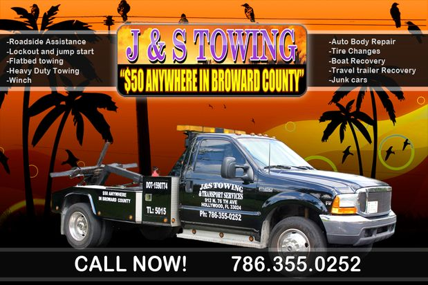 Broward 50 Towing >> J S Towing And Transport Services Inc Jandstowinginc On Pinterest