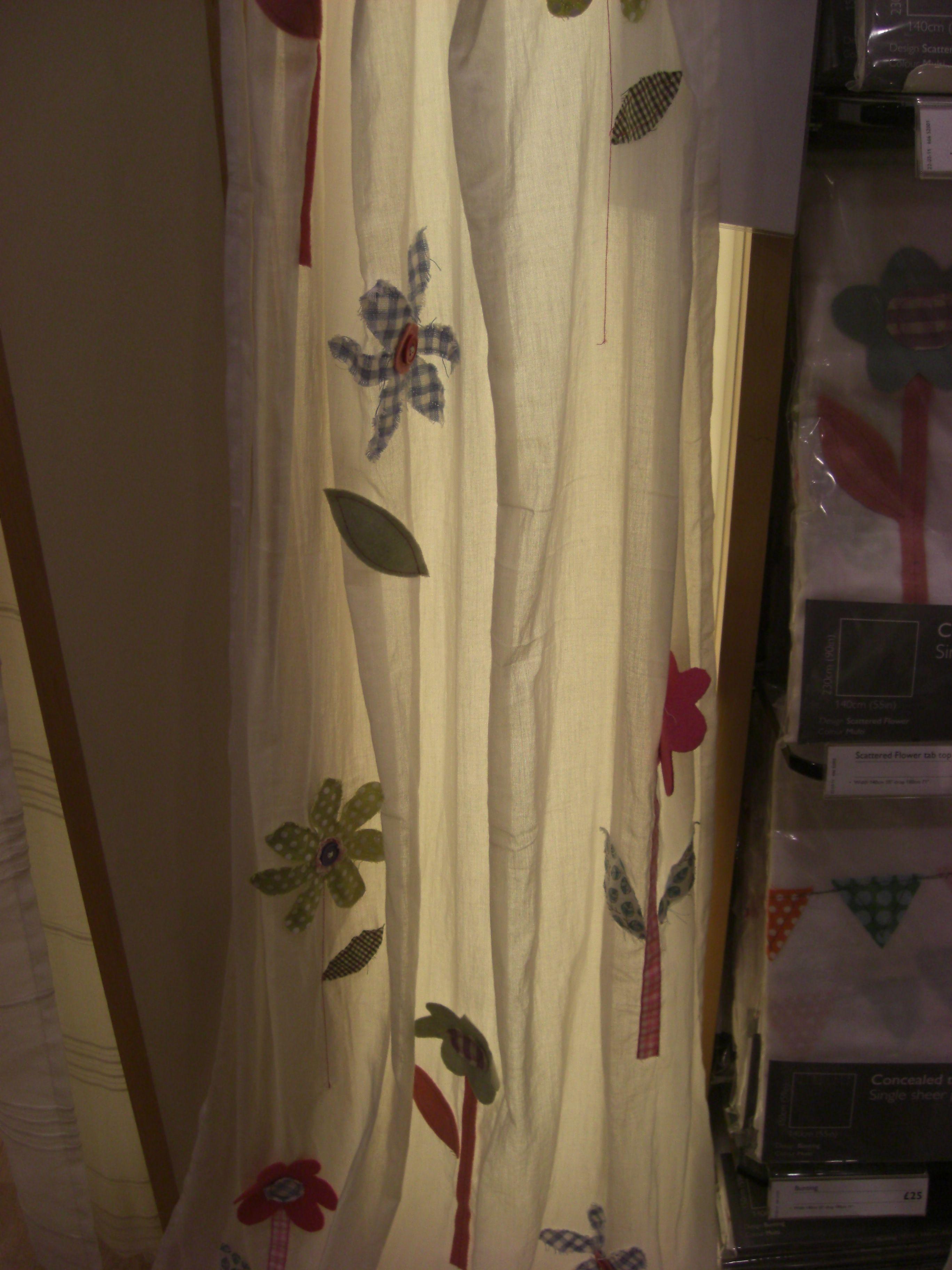 Applique Flower Voile Curtain Curtains Curtains Voile