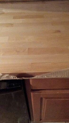 Hard wood countertops from ikea