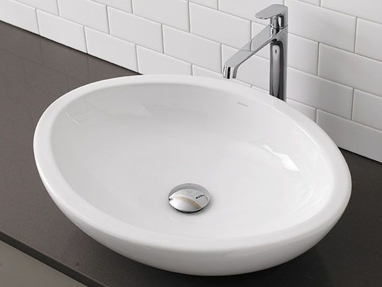 $300 Ceramic Bathroom Vessel Sinks Egg Shaped White Ceramic Vessel Sink