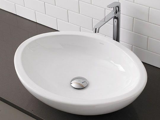 Egg Shaped White Vitreos China Vessel Sink $300 Home \u003e Bath