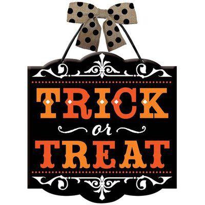 Halloween Trick or Treat Sign Halloween tricks