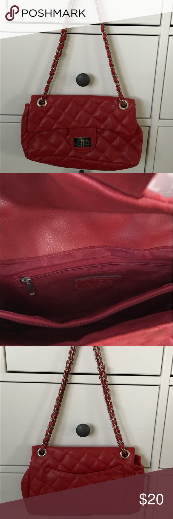Red Aldo small purse. EUC. Red Aldo small purse. Used once. Excellent used condition. Aldo Bags Mini Bags