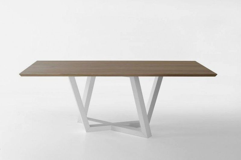 Modern Dining Table With Trapezoidal Legs Dedalo Home