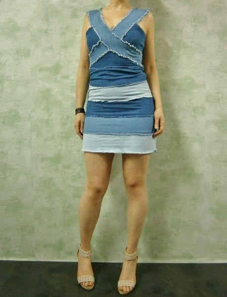 Vestido a piezas vaquero www.patuspies.es
