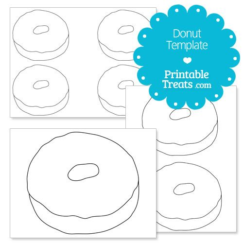 Printable Donut Template Mrs C-E Pinterest Preschool lesson
