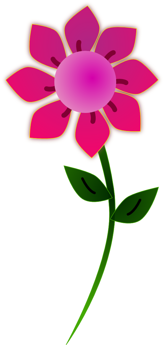 Flowers Png Pink Sun Flower 555px Png Flower Clipart Flower Clipart Png Free Clip Art
