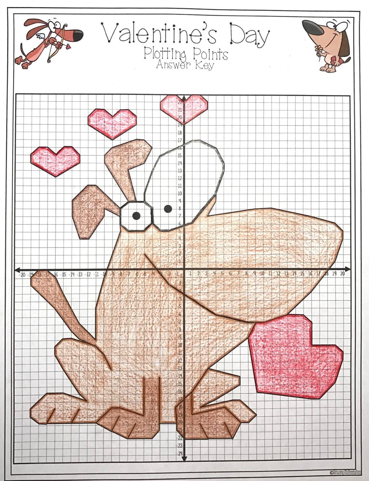 Valentine's Day Math Activity Plotting Points - Mystery ...