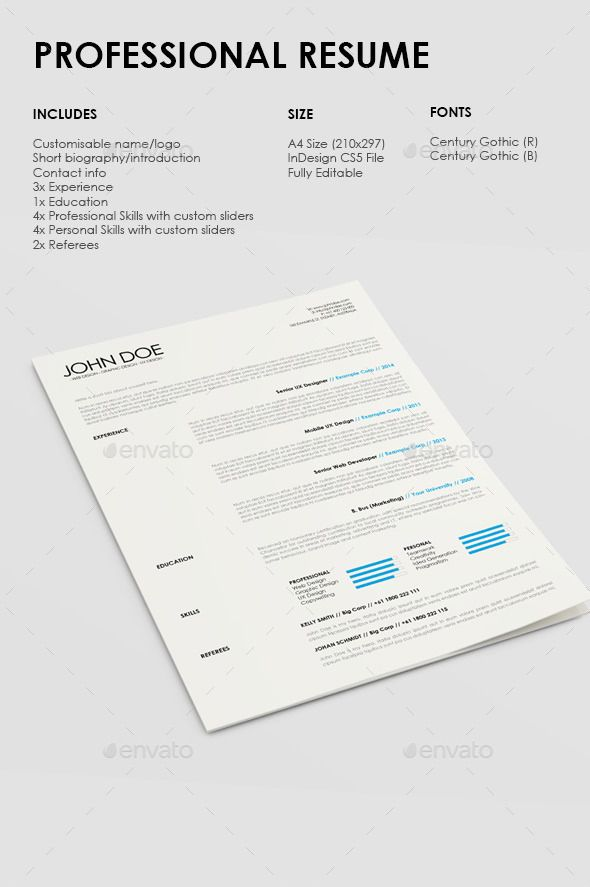 Simple Professional Resume Template  Professional Resume