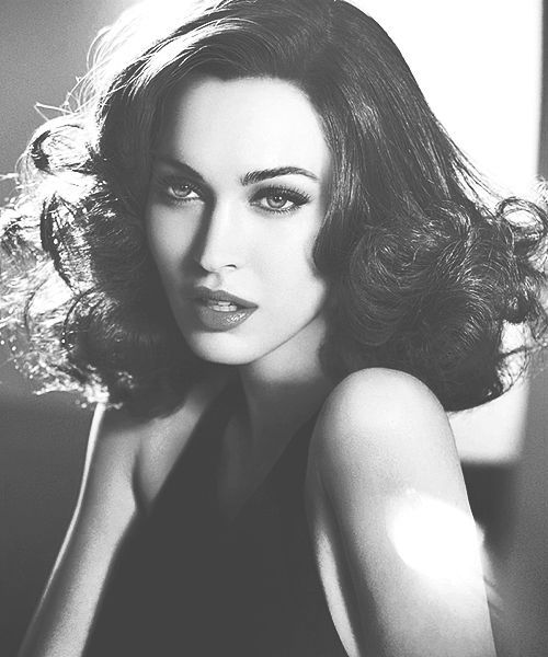 Megan Fox looking breathtaking in black and white portrait and yes she is everyone's crush..