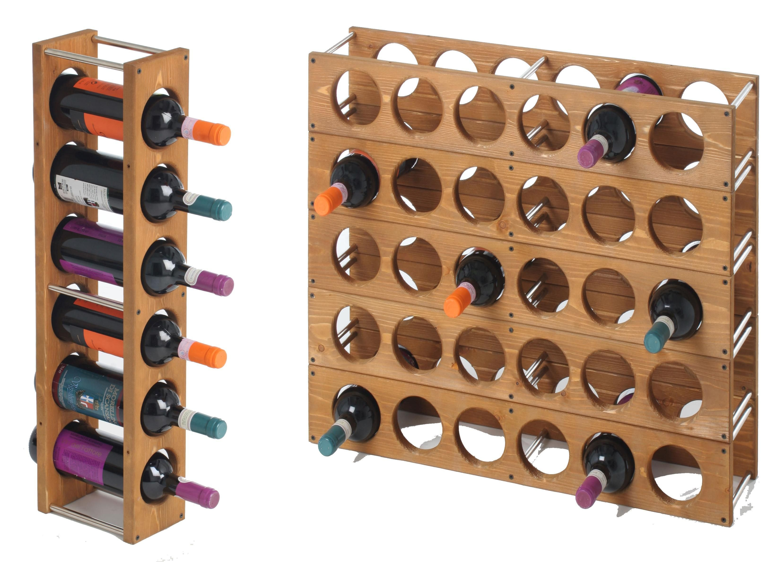 Wood Wine Rack, DIY   Simple Design. Single Column Doesnt Look Very Sturdy  When Part 98