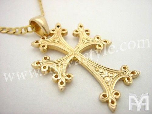 d9292b7a88441 Yellow Gold Armenian Cross | Armenia | Armenian culture, Armenian ...