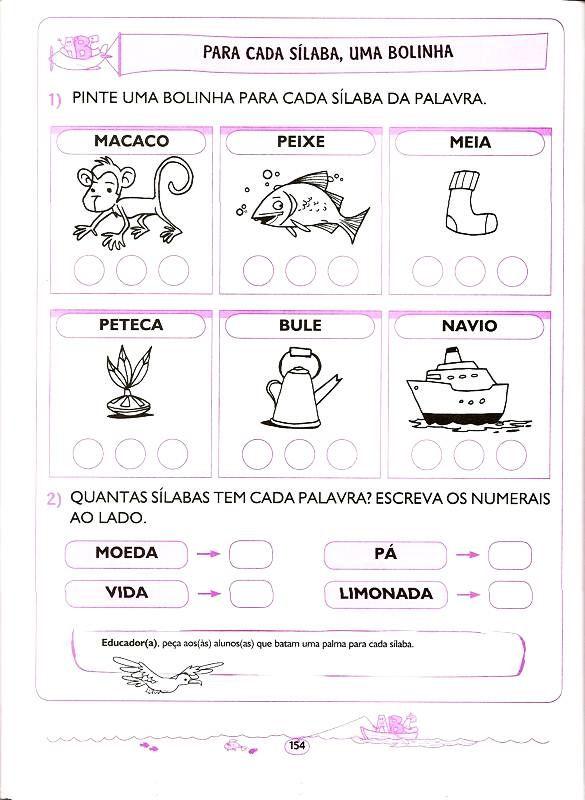 Favoritos ATIVIDADES PARA CRIANÇAS DE 5 E 6 ANOS: LINGUA PORTUGUESA  KY41