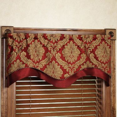 Darby Layered Scalloped Valance. Touch of Class online store.(in PC favorites) Different colors avail