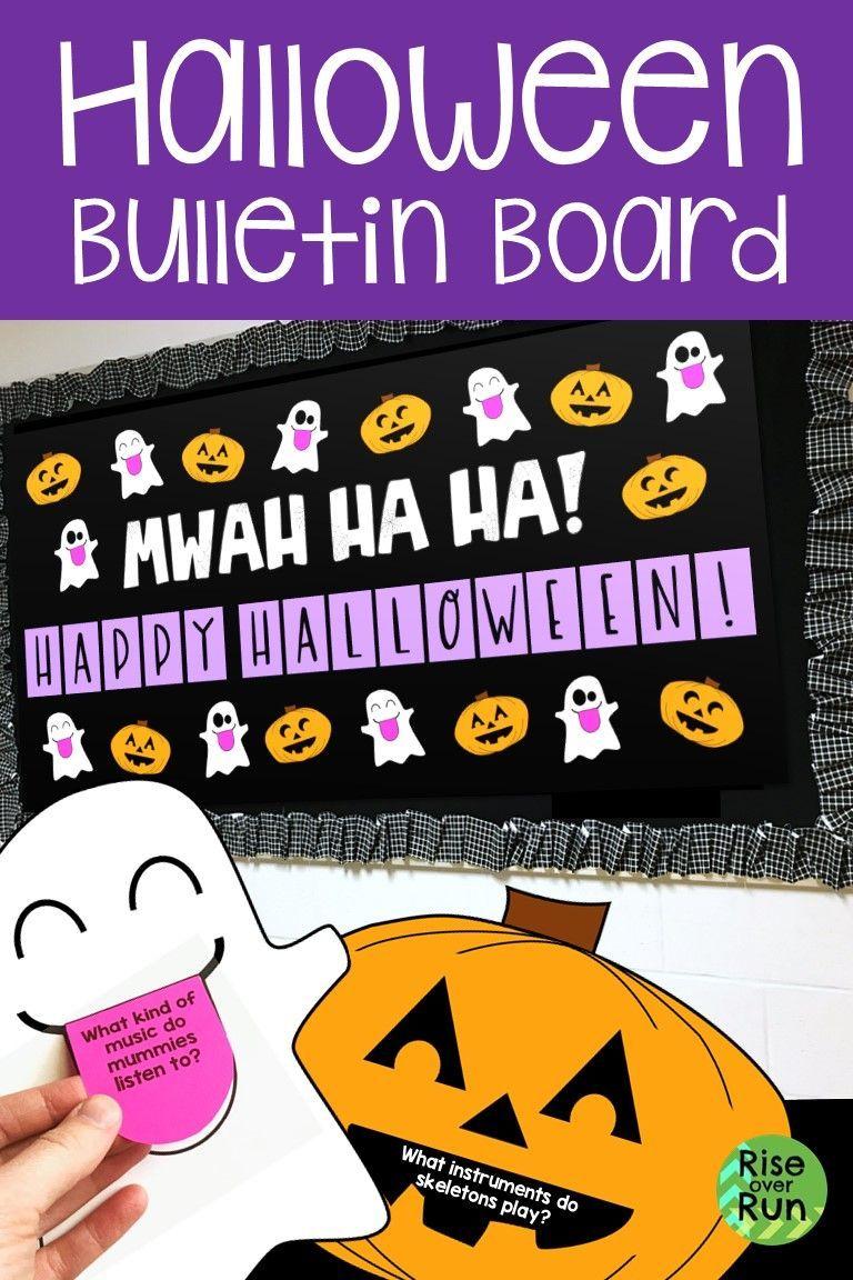Halloween Bulletin Board with Jokes Halloween bulletin