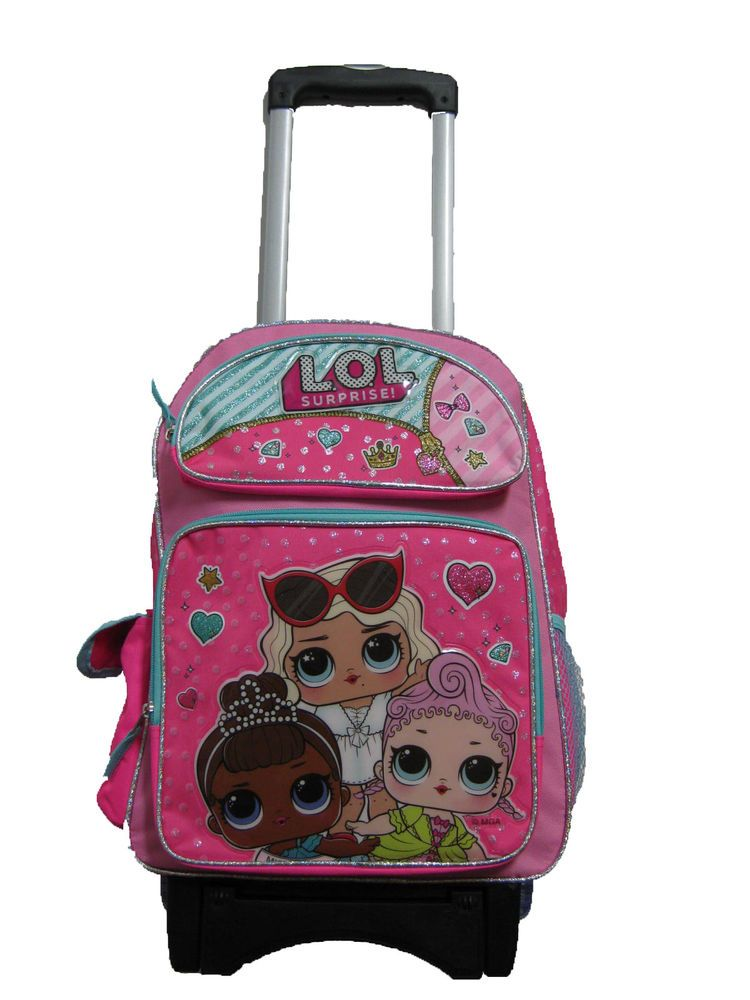 B18LO37962 LOL Surprise Large Custom Rolling Backpack 16