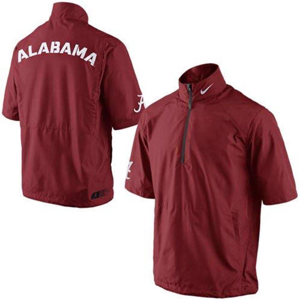 Nike Alabama Crimson Tide Hot Short Sleeve Jacket - Crimson