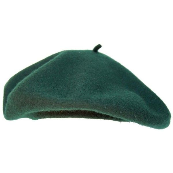 French Beret Forest Green 9 99 Liked On Polyvore Featuring Accessories Hats Headwear And Beret Hat Beret French Beret Beret Hat