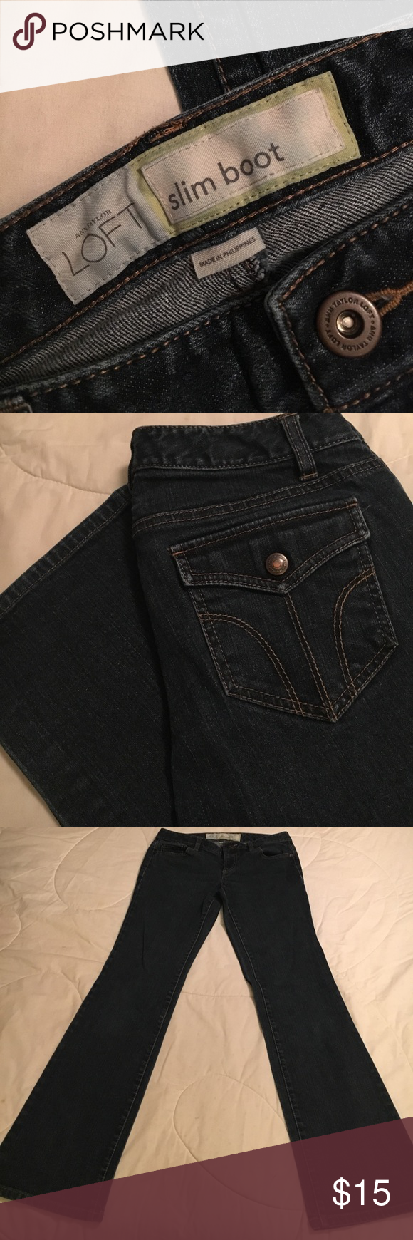 """Loft Slum Boot Cut Jean Loft Slum Boot Cut Jean with Approx 31"""" Inseam LOFT Jeans Boot Cut"""